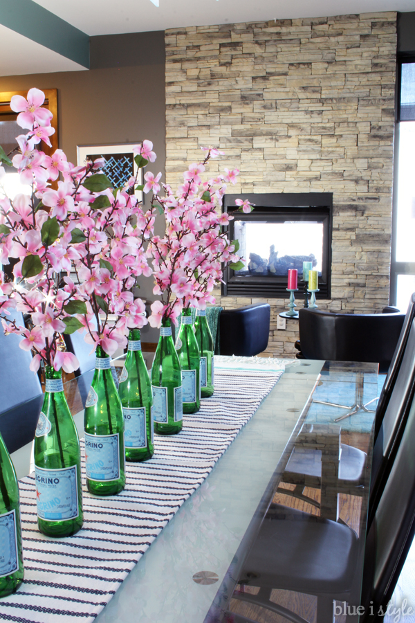 San Pellegrino Bottles Repurposed As Vases
