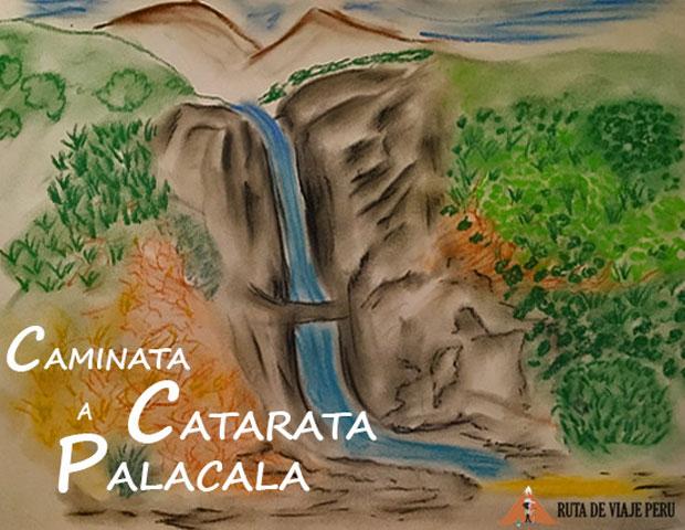 CATARATA PALACALA DIBUJO WWW.RUTADEVIAJEPERU.COM
