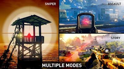 Bagi kalian yang hobi bermain game android dengan genre FPS Sniper Ghost Warrior v1.1.3 MOD APK (Ammo) Update
