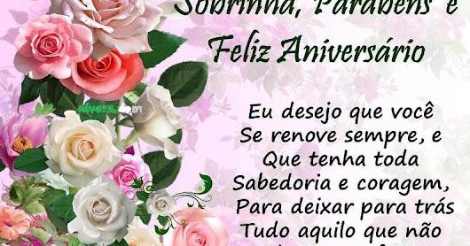 Beijo De Parabéns Para Sobrinha: Feliz Aniversário Para Sobrinha Querida Com Rosas