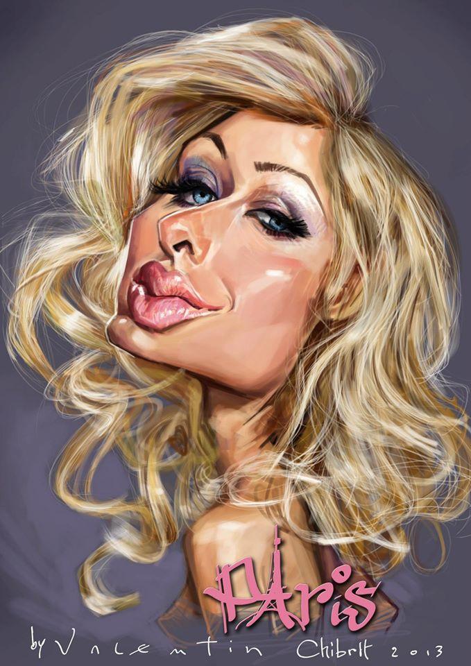 Paris Hilton por Valentin Chibrit
