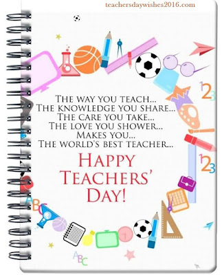 teachers day 2 essay Additional chief secretary, school education and sports shri j s saharia, director higher education, officials, teachers and their family members, ladies and gentlemen 2 i am indeed delighted to be with you today on the occasion of teachers' day.