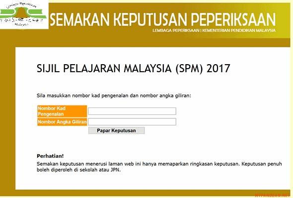 Semakan Keputusan Spm 2017 Pada 15 Mac 2018 My Panduan