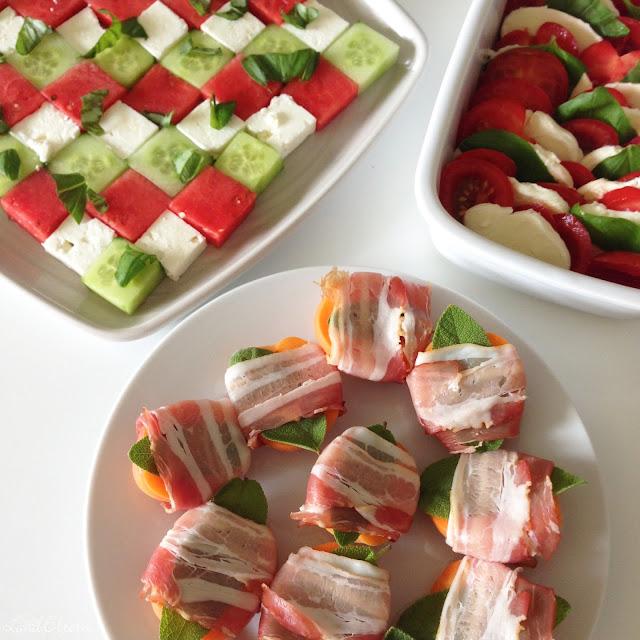 Wassermelonen - Feta - Salat - Rezept - Gartenparty