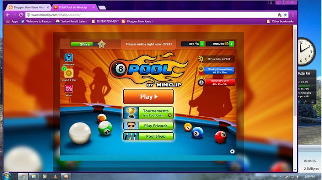 8ball pool game Computer m kese Khele