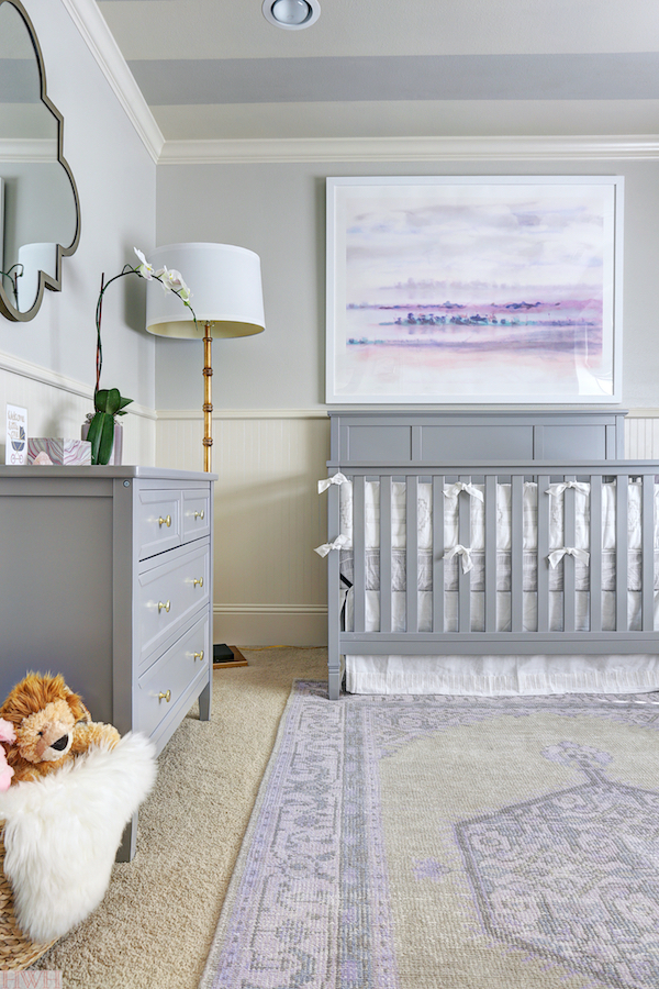 ffc6735d6 One Room Challenge :: Week 6 Baby Girl's Lavender Nursery Reveal ...