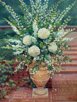 'Wedding Flowers' custom oil painting on canvas