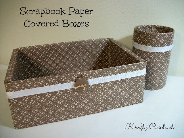 Scrapbook Paper Covered Boxes