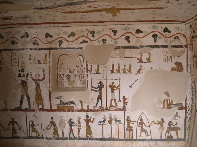 Paintings from the tomb of Sadosiris at Muzawaka (XVI)