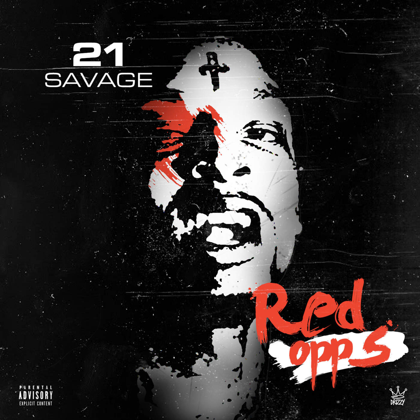 21 Savage - Red Opps - Single Cover