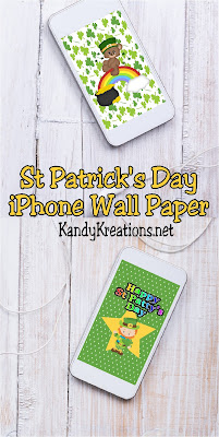 Decorate your iPhone with these pretty wall paper freebies in St Patricks day designs.  You'll be sure to have a little extra green and luck this month