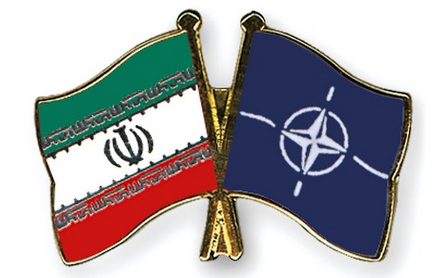 Image Attribute: Iran and NATO Cross-Flags