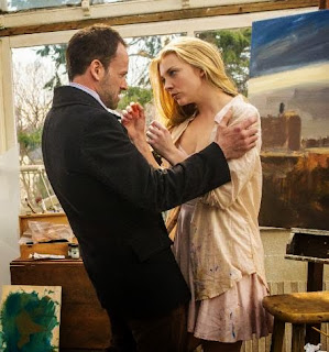 Jonny Lee Miller and Natalie Dormer as Sherlock Holmes and Irene Adler Moriarty in CBS Elementary Episode # 24 Heroine