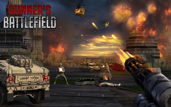 تحميل لعبة القتال والاكشن GUNNER,S BATTLEFIELD V1.1 مهكرة ( شراء مجاني ) اخر اصدار