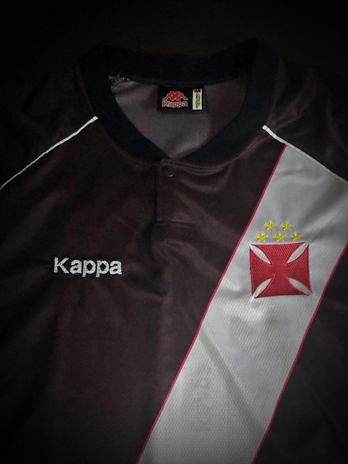 d93a35ada3 Uniforme Home Kappa - 1998. Camisa Oficial do Club de Regatas Vasco da Gama  ...