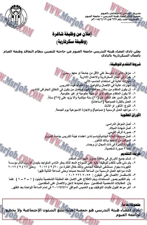 وظائف التضامن الاجتماعي تطلب خريجي جامعات ومعاهد والتقديم حتى 28 / 9 / 2017