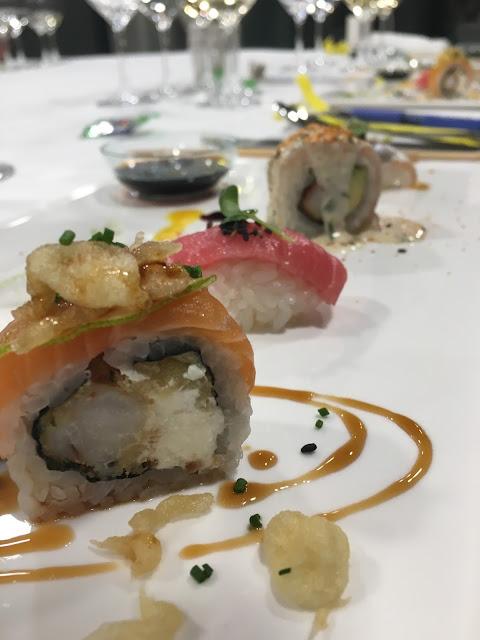 Sushi party selección de maki y niguiris.