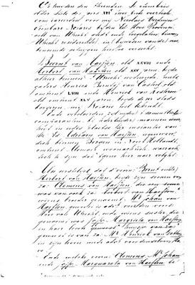 Transcriptie van de akte van 10-09-1642 (detail)