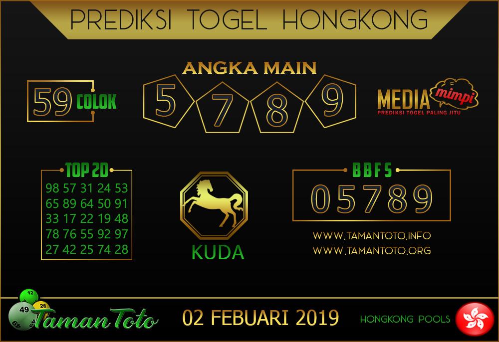 Prediksi Togel HONGKONG TAMAN TOTO 01 FEBRUARI 2019