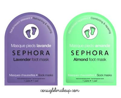 nuove maschere in tessuto piedi sephora