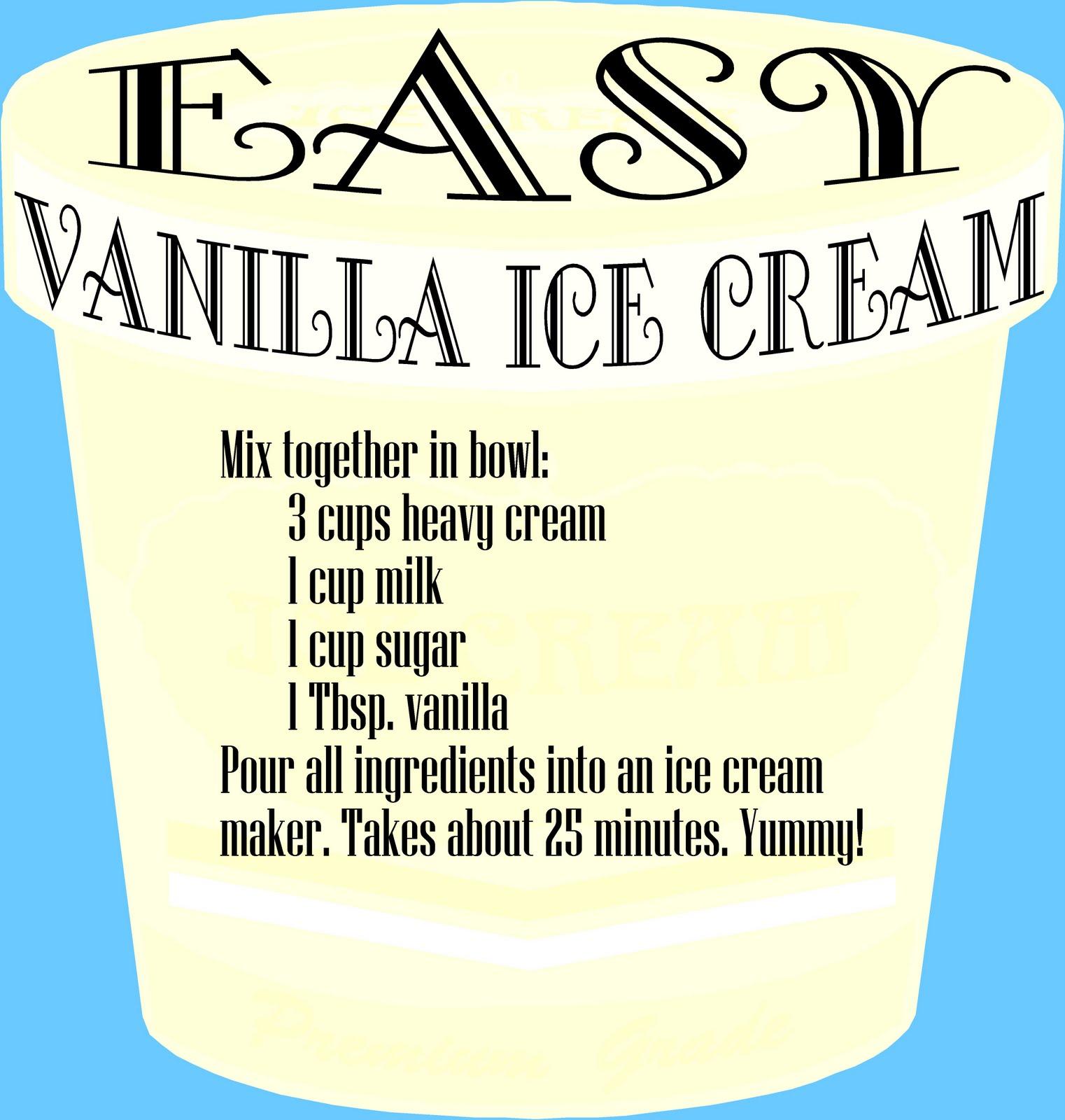 how to make ice cream recipe vanilla