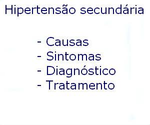 Hipertensão secundária causas sintomas diagnóstico tratamento prevenção riscos complicações