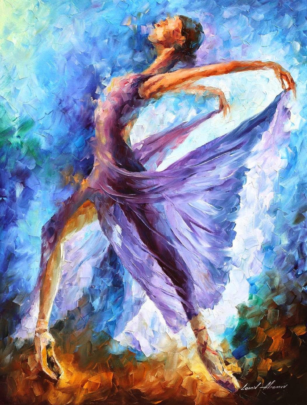 Dança dos Anjos - Pinturas de Leonid Afremov | O mestres da  espátula