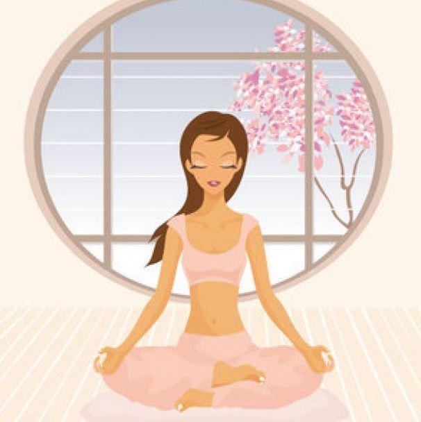 le yoga indien nu de la jeune fille