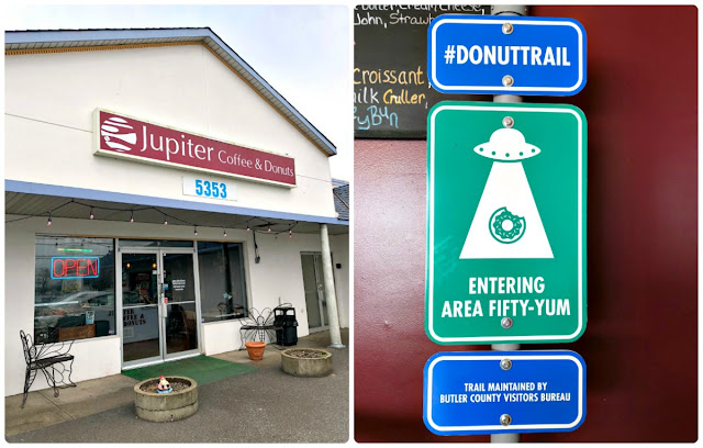 If you are wanting to start out your journey on the Butler County Donut Trail in Ohio with a good cup of coffee, then make sure Jupiter Coffee & Donuts is one of your first stops on the trail. Jupiter is one of the only stops on the trail that offers that traditional coffee shop feel along with their daily selection of freshly baked donuts.