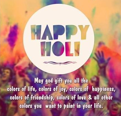 Happy Holi Greetings for Facebook Whatsapp