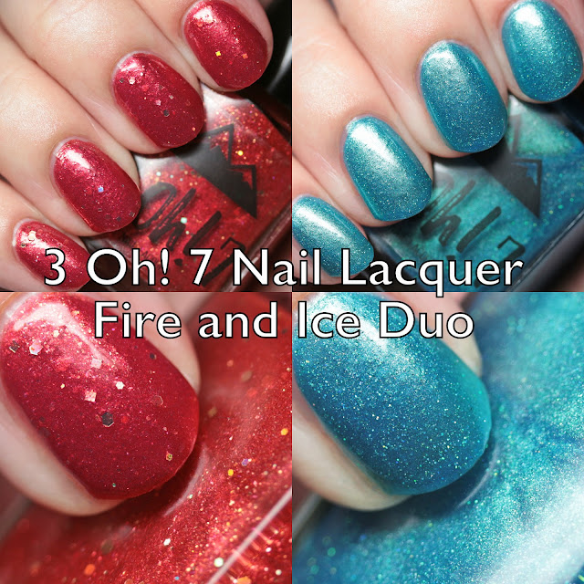 3 Oh! 7 Nail Lacquer Fire and Ice Duo