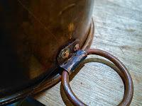 洗い桶の鋳掛修理 持ち手の付け 薬缶の修理