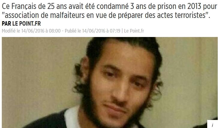 Larossi Abballa, un Français musulman de 25 ans, assassine 2 policiers au nom d'Allah
