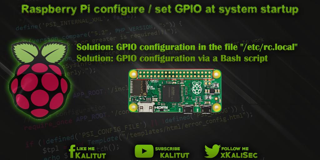 configure GPIO at system startup