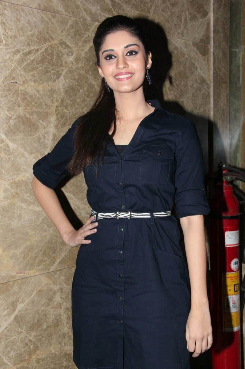 Surabhi Hot Legs Show Stills In Blue Top