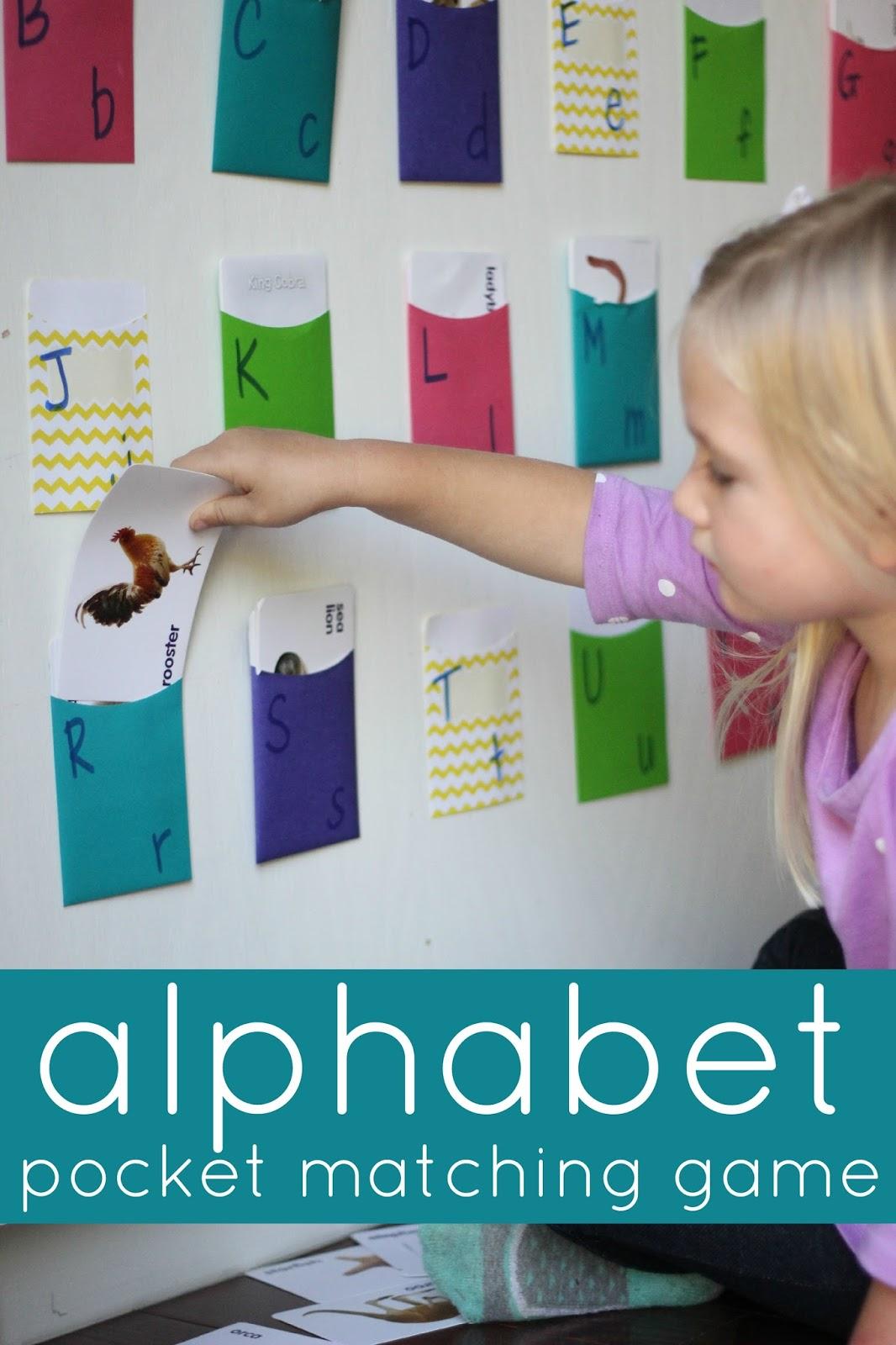 Toddler Approved Alphabet Pocket Matching Game