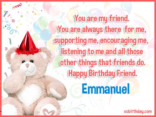 Happy Birthday Emmanuel Happy Birthday Images For Name