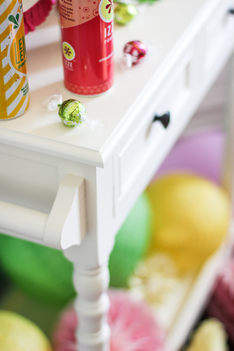 Drink station with a watermelon and lemonade theme