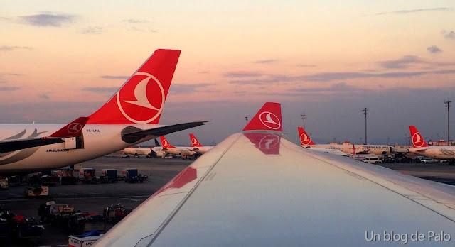 Aviones Turkish airlines en Estambul