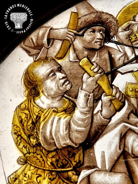 DIJON (21) - Musée des Beaux Arts : Vitrail - Martyre de Saint-Léger - XVe siècle