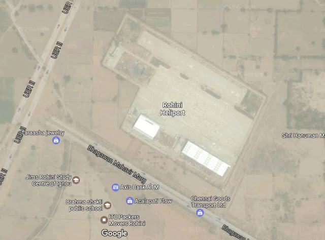 Map Attribute: Rohini Heliport, New Delhi / Source: Google Maps