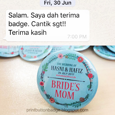Wedding Button Badge Promotion