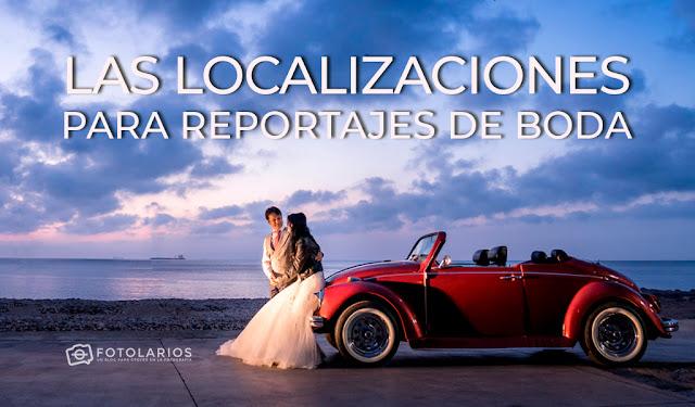 Las localizaciones para reportajes de boda