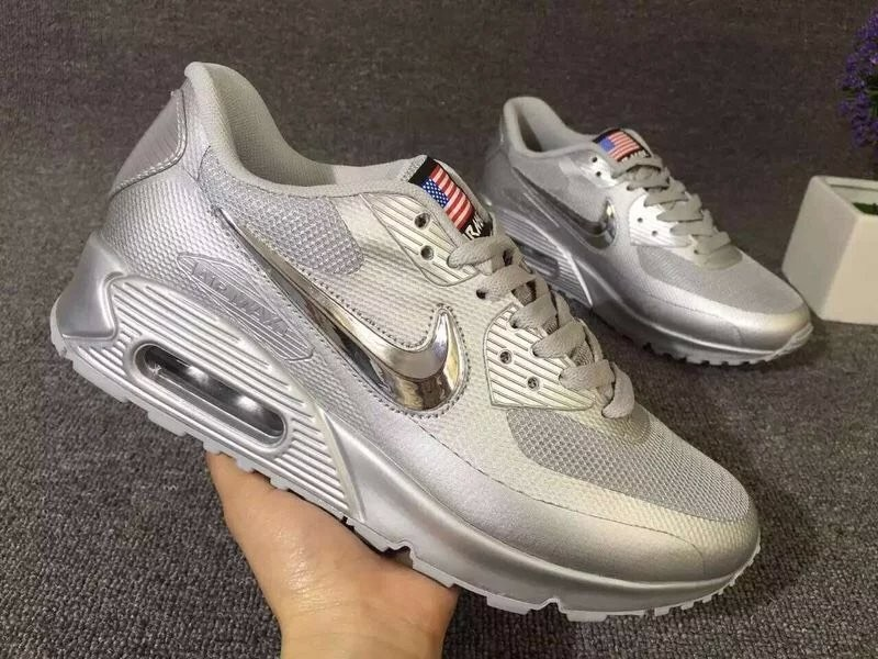 NIKE Air Max 90 Hyperfuse American Flag Black 36 46 New