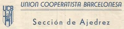 Sección de Ajedrez de la Unión Cooperatista Barcelonesa