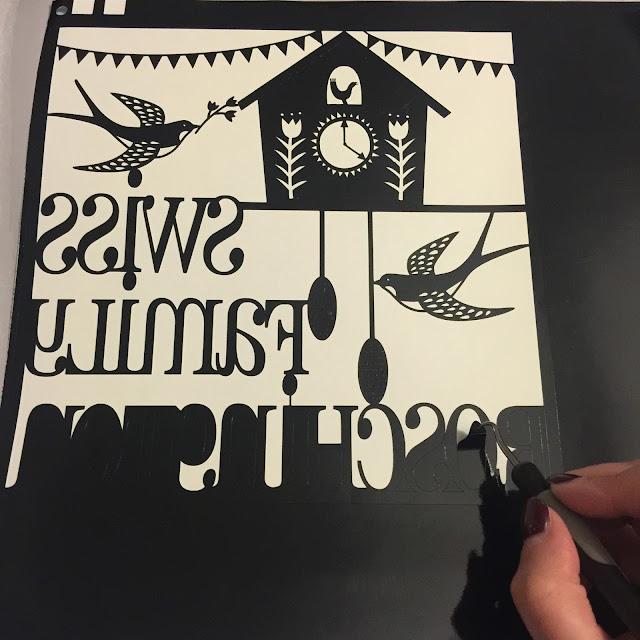 Applying vinyl to glass tutorial by Nadine Muir for UK Silhouette Blog.  Weeding