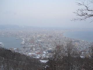 Vista de la ciudad de camino a la cima...