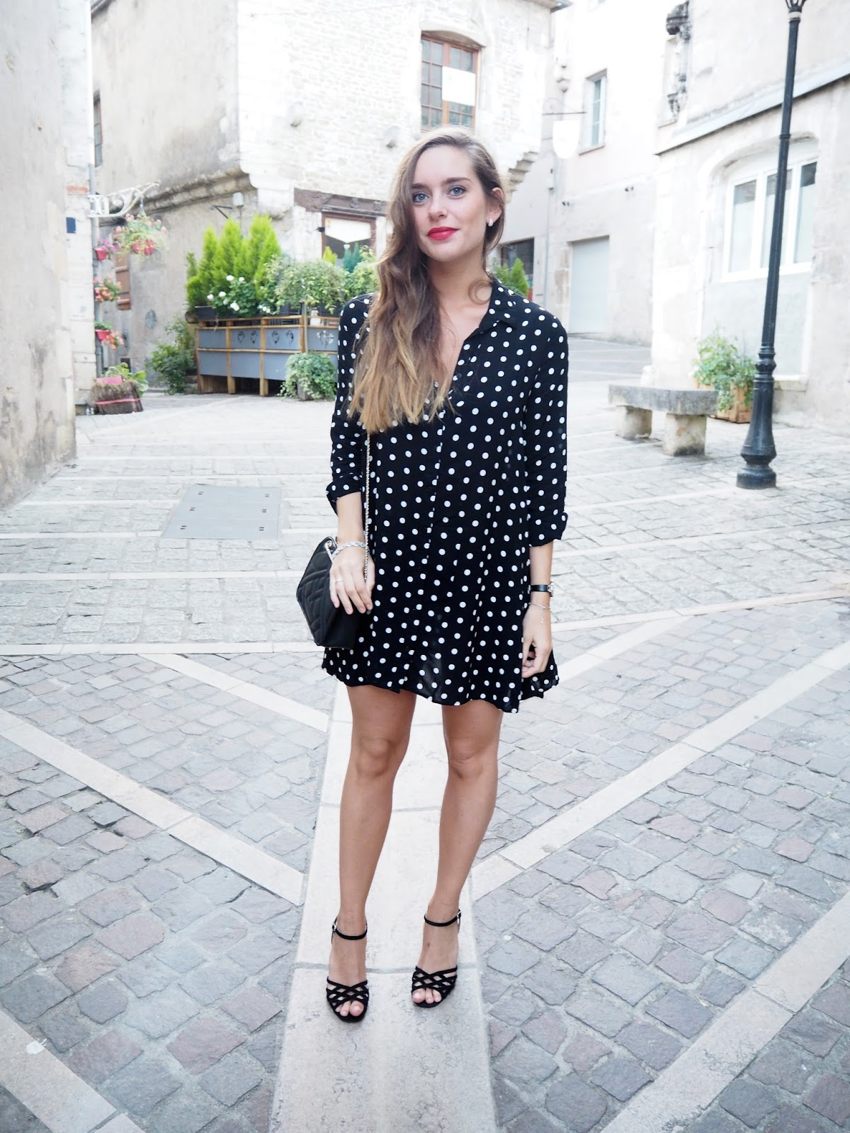 robe à pois zara blog mode