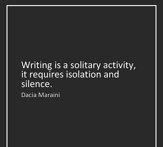 Is Writing a Solitary Activity?
