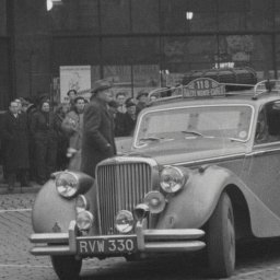 J R J Mansbridge - Jaguar MkV 1952 Monte Carlo Rally